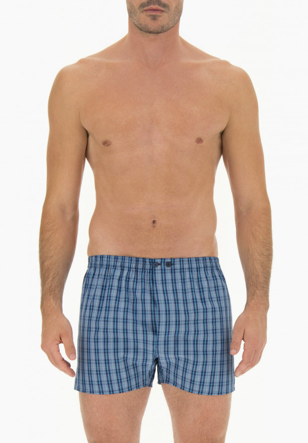 Cotton Poplin Boxer with Buttons