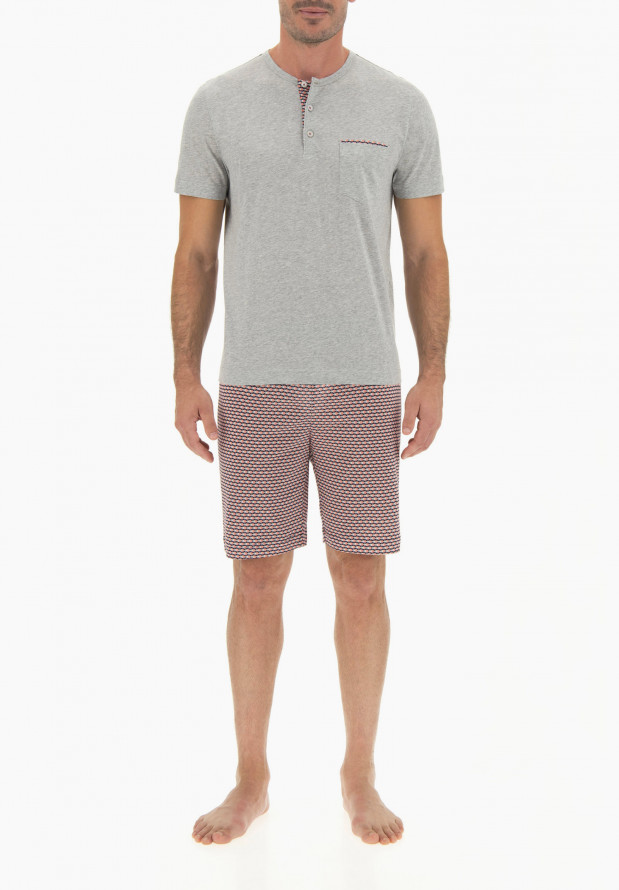 Short Cotton Pajamas for Man