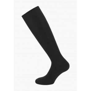 Ribbed Cotton Lisle Socks
